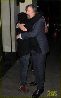 Дэниел Рэдклифф и Стивен Фрай в Лондоне