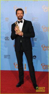 Хью Джекман на красной ковровой дорожке «Золотого глобуса» 2013