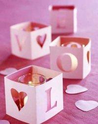 Подсвечники на День святого Валентина