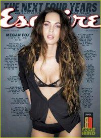 Меган Фокс на обложке февральского номера американского Esquire