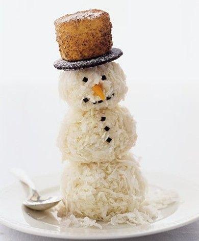 Снеговик из мороженого