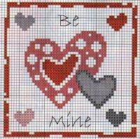 Схема вышивки на День святого Валентина