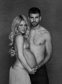 Благотворительная фотосессия беременной Шакиры