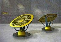 Sprung Chair: кресло-батут от Jason Klenner