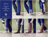 Как правильно заправлять джинсы в сапоги
