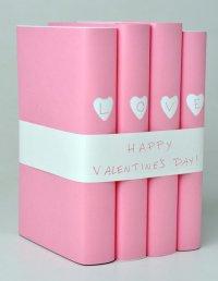 Оригинальная упаковка книг на День святого Валентина