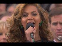 Бейонсе исполняла гимн США под фонограмму на инаугурации Обамы