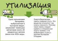 Утилизация батареек и энергосберегающих ламп