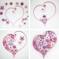 Сердце из бумаги в технике квиллинга