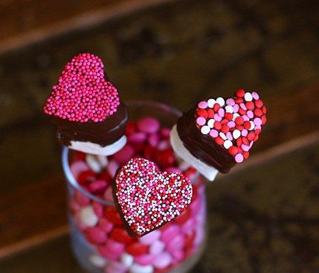 Зефир на День святого Валентина - сладкая валентинка своими руками