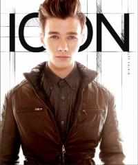 Крис Колфер на обложке журнала Icon