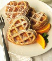 Апельсиновые вафли на День святого Валентина
