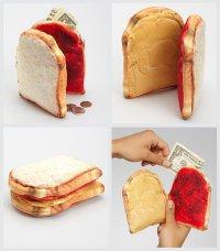 Бумажник с арахисовым маслом и вареньем