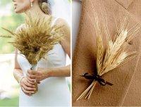 Букет и бутоньерка из пшеницы