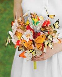 Свадебный букет с бабочками