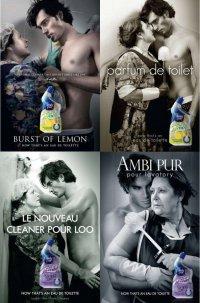 Реклама средства для чистки унитазов