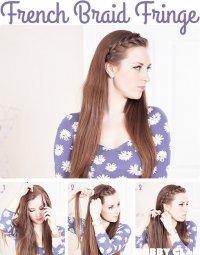 Идея прически: французская коса вместо челки