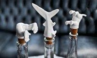 Необычные насадки на пробки из фарфора в виде зверей Wine Diver Bottle Stoppers