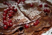 Десерты для влюбленных: шоколадные блинчики