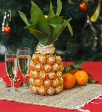 Бутылка шампанского в виде ананаса
