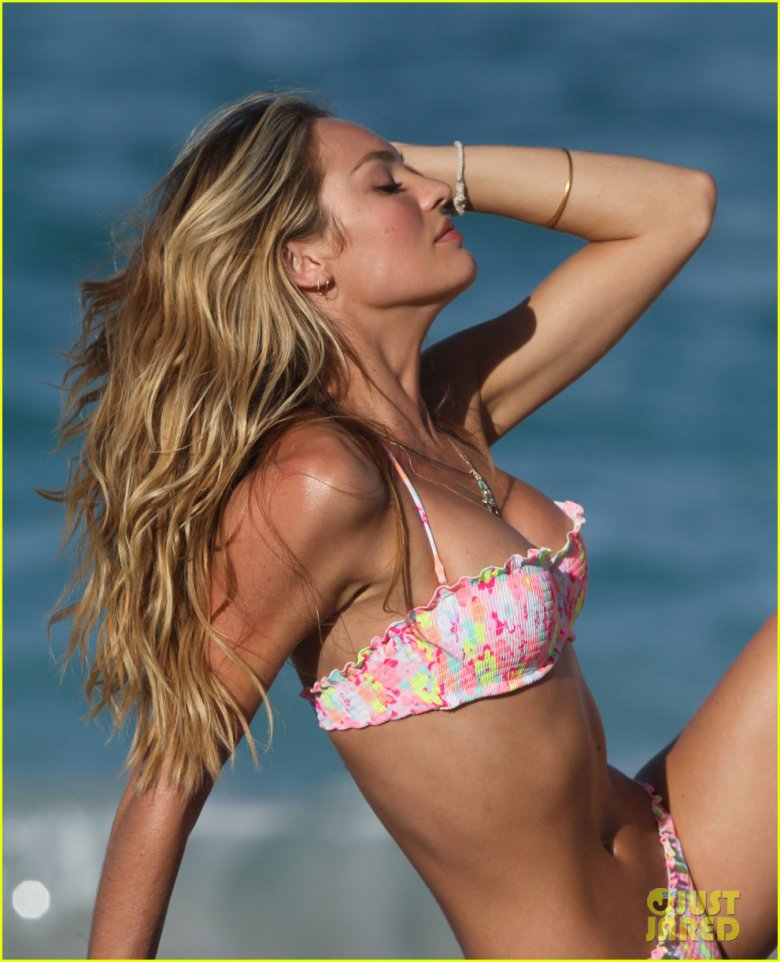 Кэндис Свейнпол: съемки бикини для Victoria`s Secret