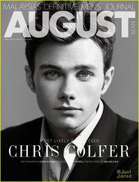 Крис Колфер на обложке журнала August Man (февраль 2013)