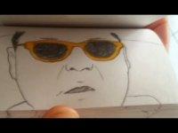 Нарисованный Gangnam Style