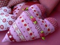 Валентинка из ткани своими руками