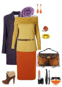 Темно-оранжевый цвет в одежде