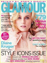 Диана Крюгер на обложке журнала Glamour UK (март 2013)