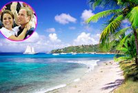 Кейт Миддлтон и принц Уильям проводят отпуск на острове