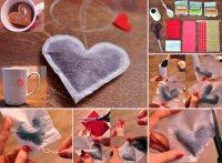 Чайные пакетики в виде сердечка своими руками