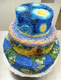 Торт в стиле Ван Гога