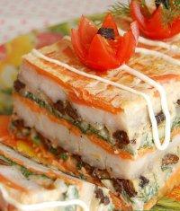 Рыбный торт: идея блюда на 23 февраля