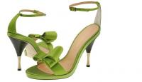 Модные цвета весенне обуви: зеленый