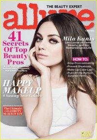 Мила Кунис на обложке журнала Allure (март 2013)