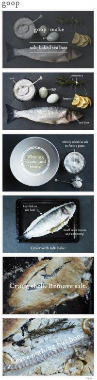 Запеченный в соли морской окунь от Goop