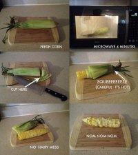 Как очень быстро приготовить кукурузу