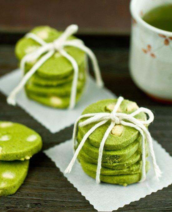 Печенье из зеленого чая и белого шоколада
