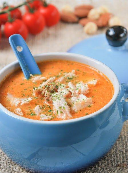 Испанский суп с курицей
