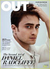 Дэниел Рэдклифф на обложке журнала OUT (март 2013)