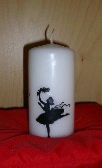 Декупаж свечи к 8 Марта