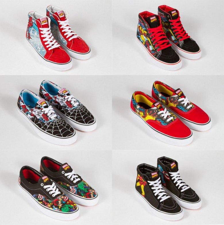 Совместная коллекция обуви от Vans и Marvel
