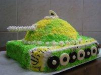 Идея украшения торта на 23 февраля