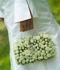 Свадебный букет сумочкой