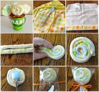 Подарок новорожденному ребенку: леденцы из пеленок