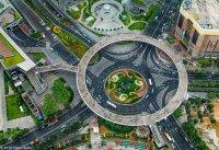 Необычный мост в Шанхае