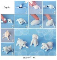 Фигурки из мастики: миленький щенок