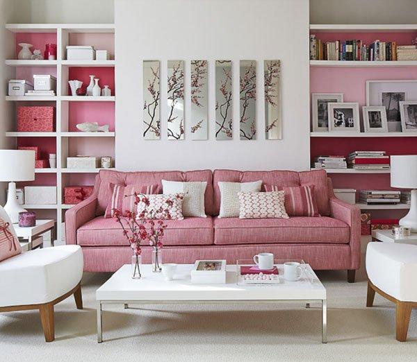 Интерьер в розовом цвете со вкусом