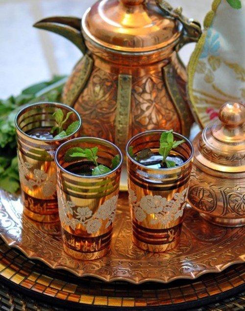 Марокканский чай с корицей и мятой